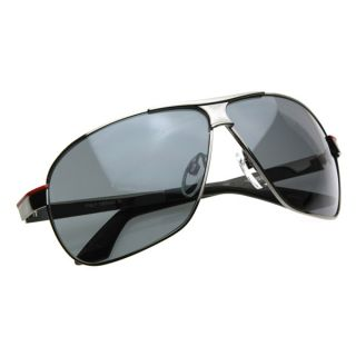 Square Aviator Large Metal Aviator Sunglasses