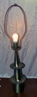 Lamp Mod Art Moderne 1950s Egyptian Revival Style Brass Table Lamp 29