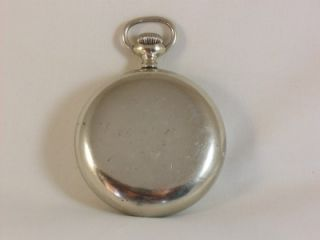 Fantastic Large Silver Illinois Plymouth Antique Pocket Watch