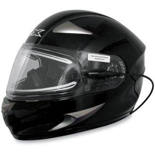 Motorcycle FX 90s Snow Helmet Electric Shield Black x Large XL