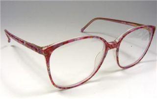 Vtg Charmant Womans Large Plastic Retro Eyeglass Frames 54 16