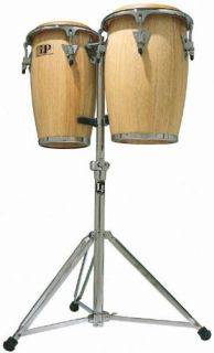 Latin Percussion LP JRX Aspire Junior Wood Congas with Double Stand