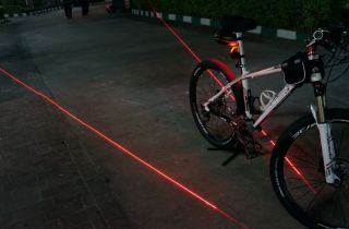 2011 Brand New Bike Bicycle Laser 5 LED Beam Rear Tail Light Lamp