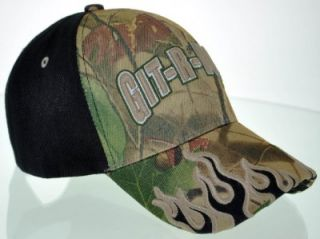 New Git R DONE Larry The Cable Guy Flame Cap Hat Camo