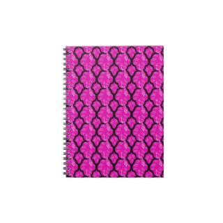 Cool oriental japanese peacock abstract pattern spiral note book
