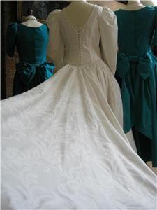 Laura Ashley Vintage Victorian Style Wedding Dress 10