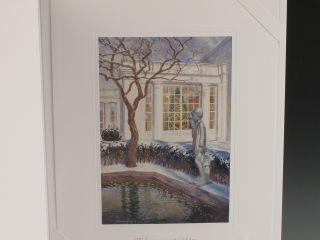 White House President George w Laura Bush Christmas Card Print
