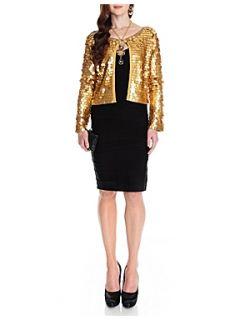 Aftershock Janella sequin jacket Gold