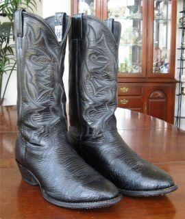 Larry Mahan Cowboy Boos Mens Size 10 XE Black