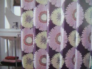 West St Sunflower Fabric Shower Curtain Purple Lime