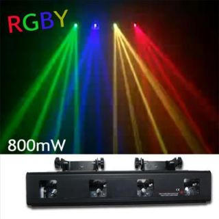 4Colors Red+Green+Blue+Yellow 4 Lens DMX512 Laser Stage Light Party