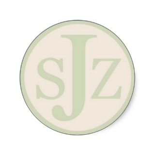 Wedding Monogram Logo Round Sticker