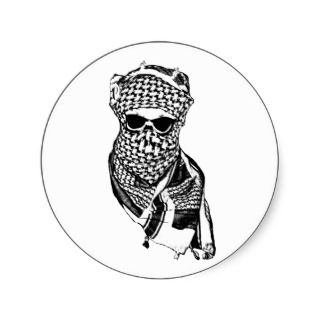 Arab Skull Sticker