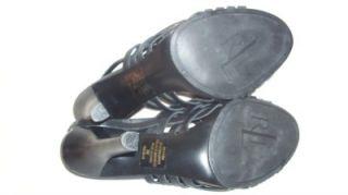 New Ralph Lauren RLL Black Strappy Open Toe Heels 9M