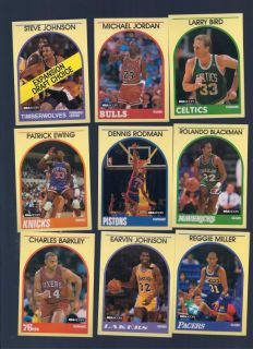 Complete Set NBA Hoops Cards Bird Jordan Miller Magic Johnson