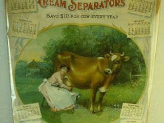 Rare 1903 De Laval Separators Advertising Calendar New York, Chicago