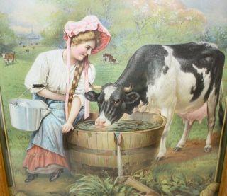 RARE 1911 de Laval Cream Separators Two Sided Advertising Calendar