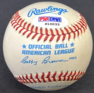 Mickey Mantle 7 RARE Hand Signed Autographed Baseball Ball PSA DNA COA