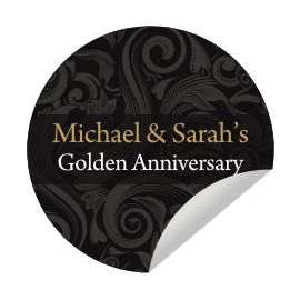 Personalised Anniversary Invitation Envelope Seals Stickers