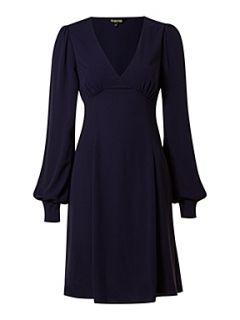 Biba Long sleeve 70`s style dress French Navy