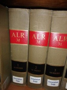 Law Reports Annotated 3D ALR Volumes Vol. 1 100 Legal Book Library 3