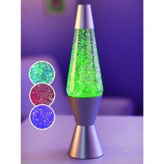 New Lava Lite 14 1 2 inch 20 Ounce Colorphasing Vortex Glitter Lamp