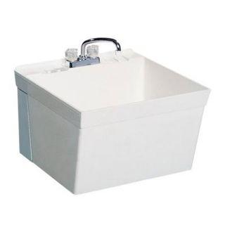 Swanstone Floor Standing Laundry Sink White