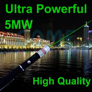 High Tech Solid Green Laser Pointer Pen 5mW 532nm Best Selling