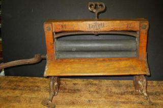 Excellent Lovell No 32 Wooden Clothes Wringer for Wash Basin