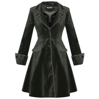 Spin Doctor Dandy Ladies New Gothic Steampunk Velvet Frock Coat