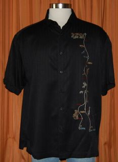 Havanera Co History of Latin Jazz Black Shirt Mens XXL