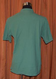 Robert Graham Short Sleeve Green Polo Shirt Mens Large