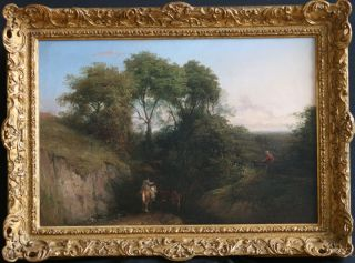 Thomas Baker Leamington 18091869 British Art Oil Painting 1850 Antique