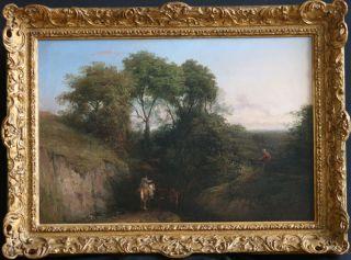 Thomas Baker Leamington 18091869 British Art Oil Painting 1850 Antique