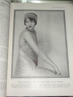 Magazine Apr 1927 Barbara Stanwyck Laura La Plante Lon Chaney