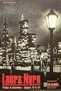 Laura Nyro Original 1988 Concert Poster Bill Graham Presents F041