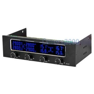 25 Panel 4 Fans Temperature Speed LCD Controller