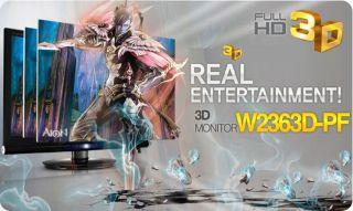 New LG Flatron Full HD 23 LCD 3D Monitor W2363D PF
