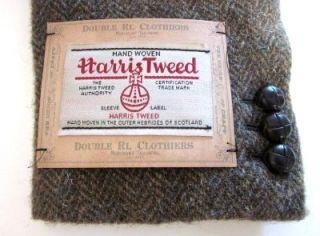 990 RRL Ralph Lauren Harris Tweed Herringbone Wool Blazer Jacket 42 R