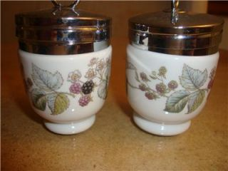 Royal Worcester Porcelain Egg Coddlers Lavina Floral Patterns