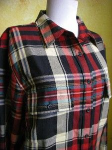 Lauren Ralph Lauren Ladies Plaid Button Front Blouse Shirt Plus Size