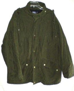 Mens Ralph Lauren Polo Olive Green Parka Fleece Lined Storm Survival