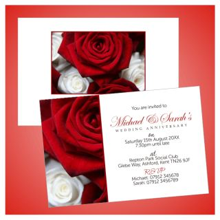 50th Golden Personalised Wedding Anniversary Invitations Invites