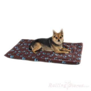 Slumber Pet Dog Crate Mat Pawprint Berber Soft Thermal Lining for