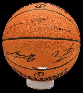 Lebron James Dwyane Wade Signed 2012 NBA Champs Basketball UDA Le 136