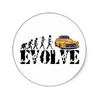 Hot Rod Street Rod Driver Evolution Sticker