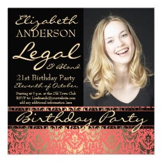 Funny 21st Birthday Invitations, 181 Funny 21st Birthday Announcements