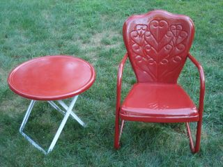 Old Fashioned Metal Lawn Chairs On PopScreen