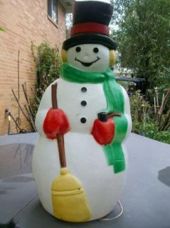 Vintage Empire Plastic Snowman Christmas Yard Decor Blowmold Light