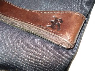Ralph Lauren Polo Denim Leather Rugby Clutch Purse Bag